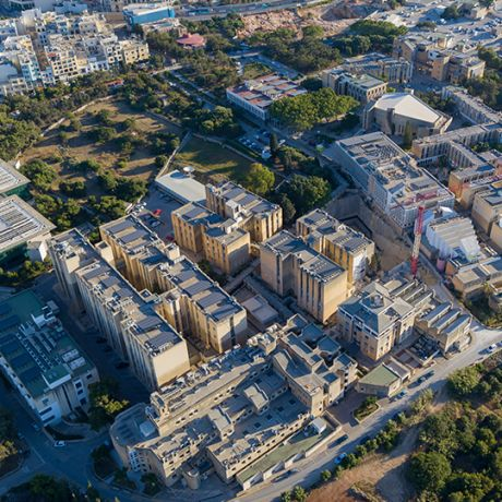 Aerial view of Malta University